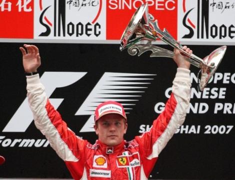 Kimi Raikkonen Chinese GP 2007
